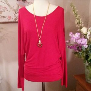 Valentine Red Soft Knit Long Sleeved Top
